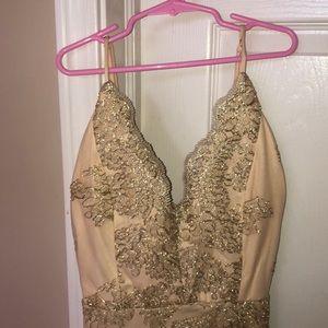 Windsor Dresses - Golden Lace Windsor Homecoming Dress